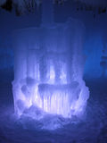 Nattetidskulptur av is och ljus Royaltyfria Bilder