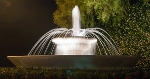 Nattetidspringbrunn Arkivfoton