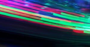 Nattfärger av nöjesfältet Arkivbild