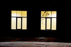 Nattfönster Arkivfoto