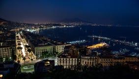 Nattfjärd av Naples Royaltyfri Foto