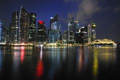 nattflod singapore Royaltyfri Foto