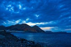Nattfotografi av det Muscat landskapet, Oman royaltyfria bilder