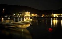 Nattfotografi av Ithaca Grekland arkivbild