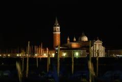 Nattgåta i Venedig Royaltyfri Bild