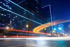 nattgatatrafik Arkivfoto