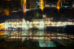 Nattgator av Chicago royaltyfri foto