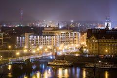 Nattgator av Prague Fotografering för Bildbyråer