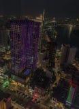 Nattgator efter solnedgång i Ho Chi Minh City arkivfoton