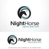 Natthäst Logo Template Design Vector Arkivfoto