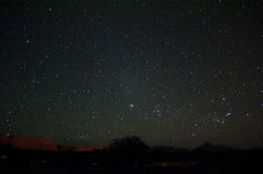 Natthimmel över den Atacama öknen Arkivfoto