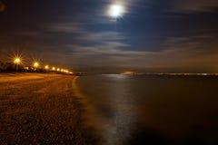 Natthimmel över havet Royaltyfri Bild