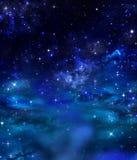natthimmel, bakgrund Arkivbilder