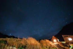 Natthimmel i Altai Arkivfoto