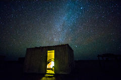 Natthimmel i Oman Arkivbild