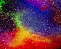 Natthimmel med massor av stjärnor Arkivbilder