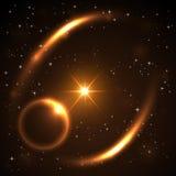 Natthimmel med massor av stjärnor Fotografering för Bildbyråer