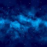 Natthimmel med stjärnor stock illustrationer