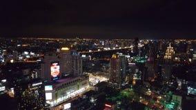 Natthorisont av Bangkok Arkivbild