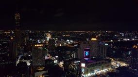 Natthorisont av Bangkok Royaltyfri Foto