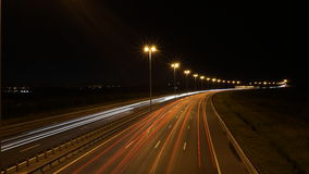 Natthuvudväg Arkivbild