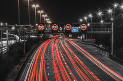 Natthuvudväg i Antwerp Royaltyfria Foton