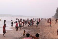 Nattika Snehatheeram. Snehatheeram, Nattika, one of the most beautiful beaches in Thrissur attracts thousands of people every week stock photo