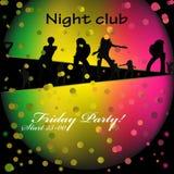 Nattklubb royaltyfri illustrationer