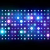 Nattklubbbakgrund abstrakt lampor stock illustrationer
