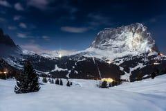 Nattlandskap, Österrike Arkivfoton