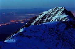 nattlandskap Arkivfoto