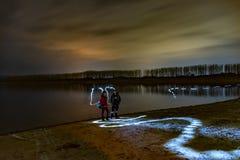 Nattlandskap från Bulgarien royaltyfri foto