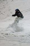 nattlig snowboard för stridhopp arkivbilder