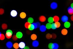 Nattljus av bokeh Arkivfoton