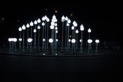 Nattljus i Gomel Arkivbilder