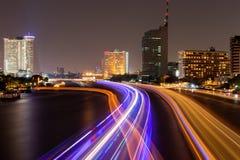 Nattljus på bangkok Arkivfoto
