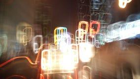 Nattljus på gatan Astir Royaltyfria Bilder