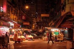 Nattmarknad Hong Kong Arkivfoton