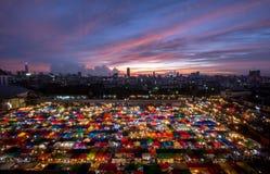 Nattmarknad Thailand Royaltyfri Foto