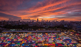 Nattmarknad Thailand Arkivbild