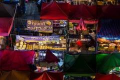 Nattmarknad Thailand Royaltyfri Fotografi