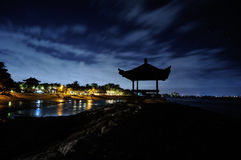 Nattmoln över havet 2 Royaltyfri Fotografi