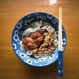 Natto乌龙面面条 图库摄影