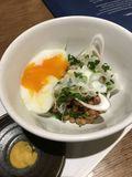 Natto和水煮蛋 库存图片
