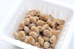 Natto,被发酵的大豆 库存照片