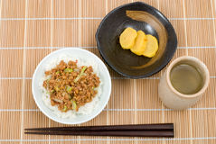 Natto Gohan Royalty Free Stock Photos
