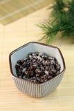 Natto preto do feijão de soja Fotografia de Stock