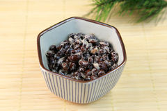 Natto preto do feijão de soja Imagens de Stock Royalty Free