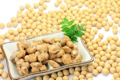 Natto and soybean Royalty Free Stock Image