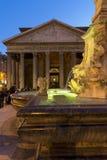 nattpantheon rome Fotografering för Bildbyråer